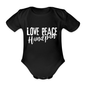 LOVE PEACE Handpan white - Baby Bio-Kurzarm-Body