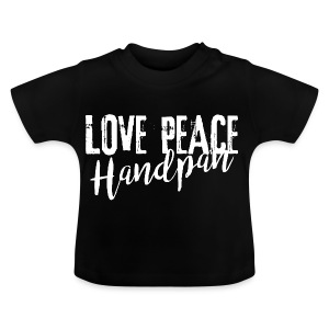 LOVE PEACE Handpan white - Baby T-Shirt