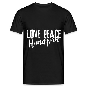 LOVE PEACE Handpan white - Männer T-Shirt