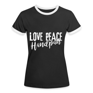 LOVE PEACE Handpan white - Frauen Kontrast-T-Shirt