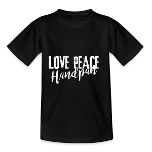 LOVE PEACE Handpan white - Kinder T-Shirt