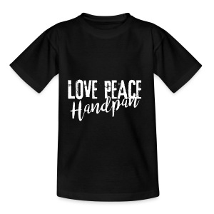 LOVE PEACE Handpan white - Teenager T-Shirt