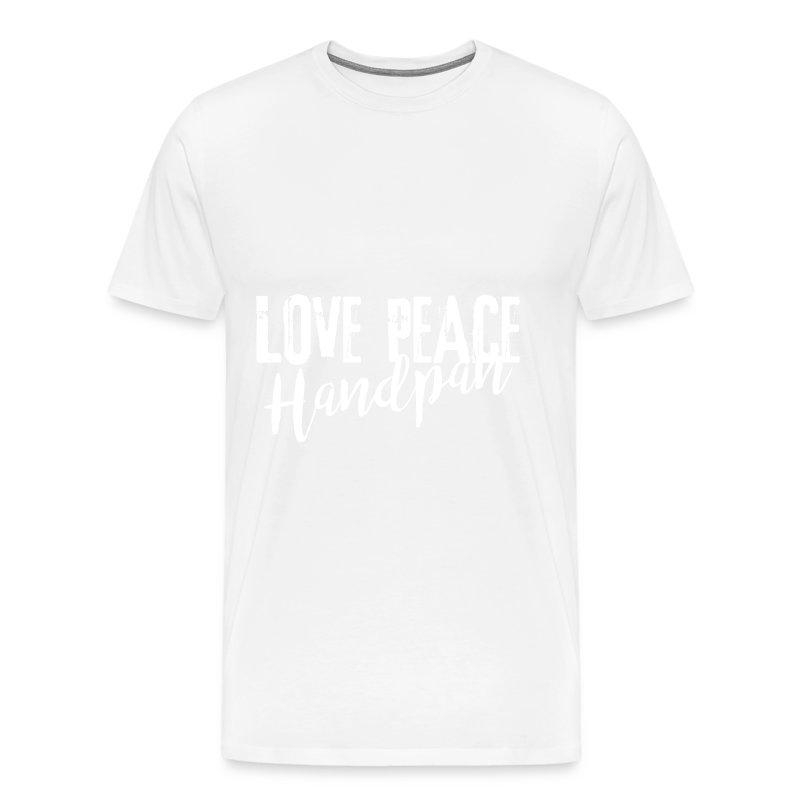 LOVE PEACE Handpan white - Männer Premium T-Shirt