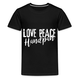 LOVE PEACE Handpan white - Teenager Premium T-Shirt