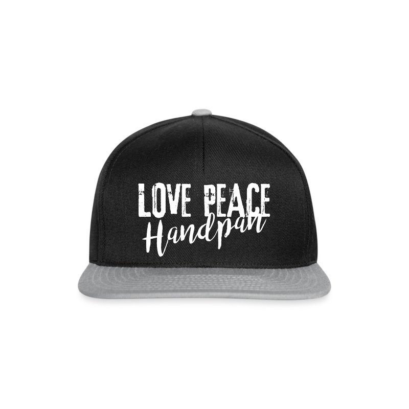 LOVE PEACE Handpan white - Snapback Cap