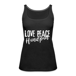 LOVE PEACE Handpan white - Frauen Premium Tank Top