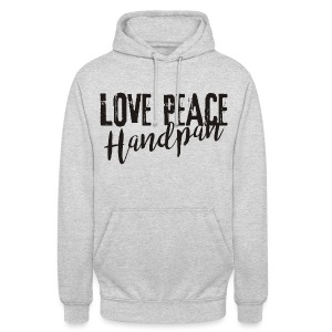 LOVE PEACE Handpan black - Unisex Hoodie