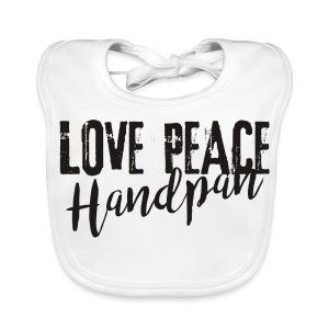 LOVE PEACE Handpan black - Baby Bio-Lätzchen