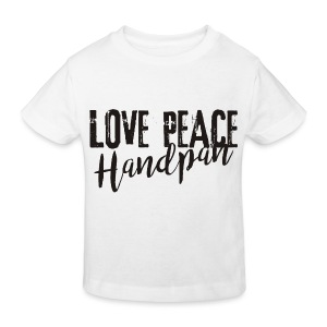 LOVE PEACE Handpan black - Kinder Bio-T-Shirt