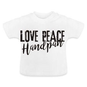 LOVE PEACE Handpan black - Baby T-Shirt
