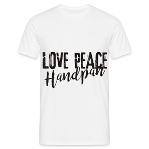 LOVE PEACE Handpan black - Männer T-Shirt