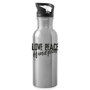LOVE PEACE Handpan black - Trinkflasche