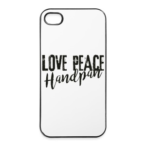 LOVE PEACE Handpan black - iPhone 4/4s Hard Case