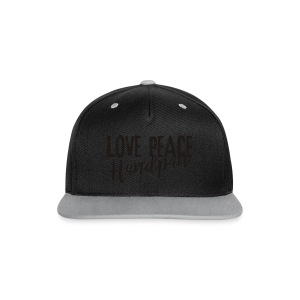 LOVE PEACE Handpan black - Kontrast Snapback Cap