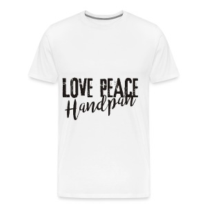 LOVE PEACE Handpan black - Männer Premium T-Shirt