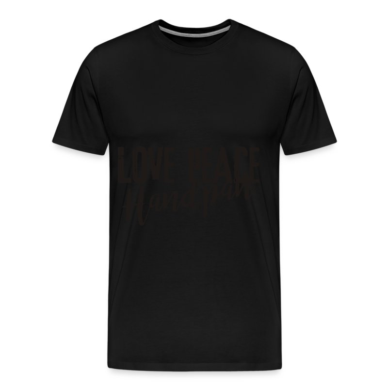 LOVE PEACE Handpan black - Männer Premium T-Shirt