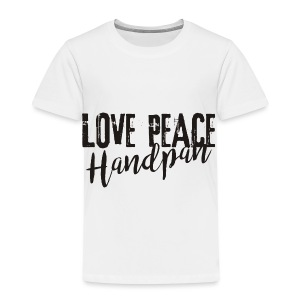 LOVE PEACE Handpan black - Kinder Premium T-Shirt