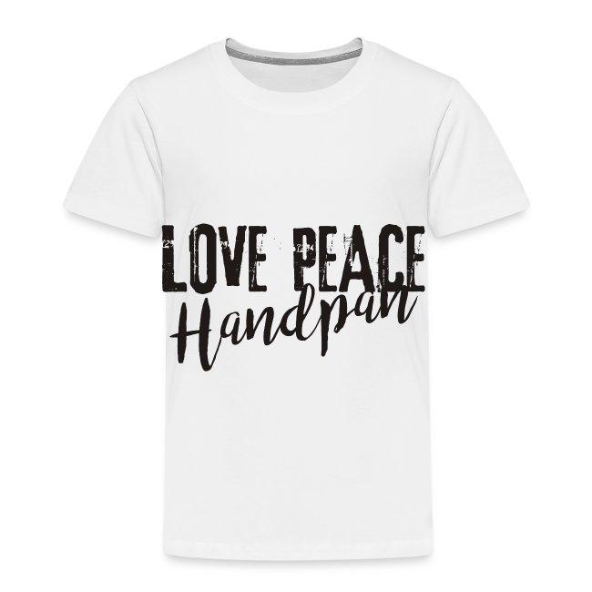 LOVE PEACE Handpan black
