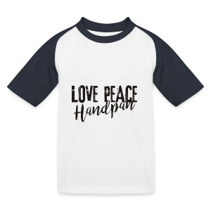 LOVE PEACE Handpan black - Kinder Baseball T-Shirt