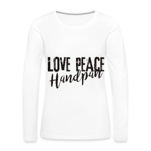 LOVE PEACE Handpan black - Frauen Premium Langarmshirt