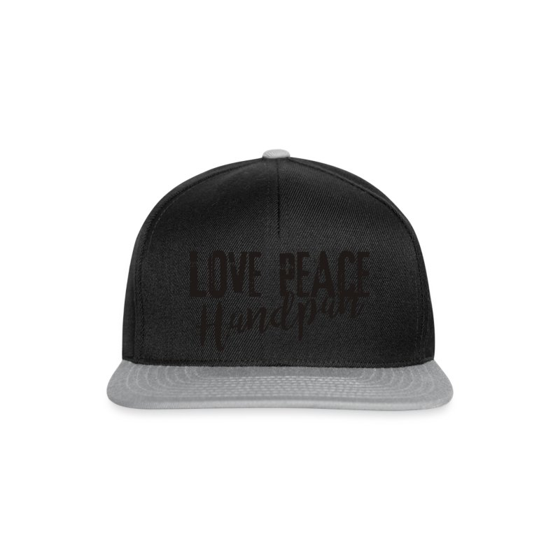 LOVE PEACE Handpan black - Snapback Cap