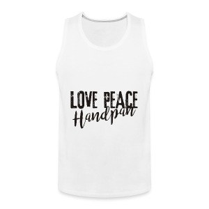LOVE PEACE Handpan black - Männer Premium Tank Top