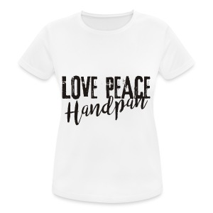 LOVE PEACE Handpan black - Frauen T-Shirt atmungsaktiv
