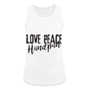 LOVE PEACE Handpan black - Frauen Tank Top atmungsaktiv