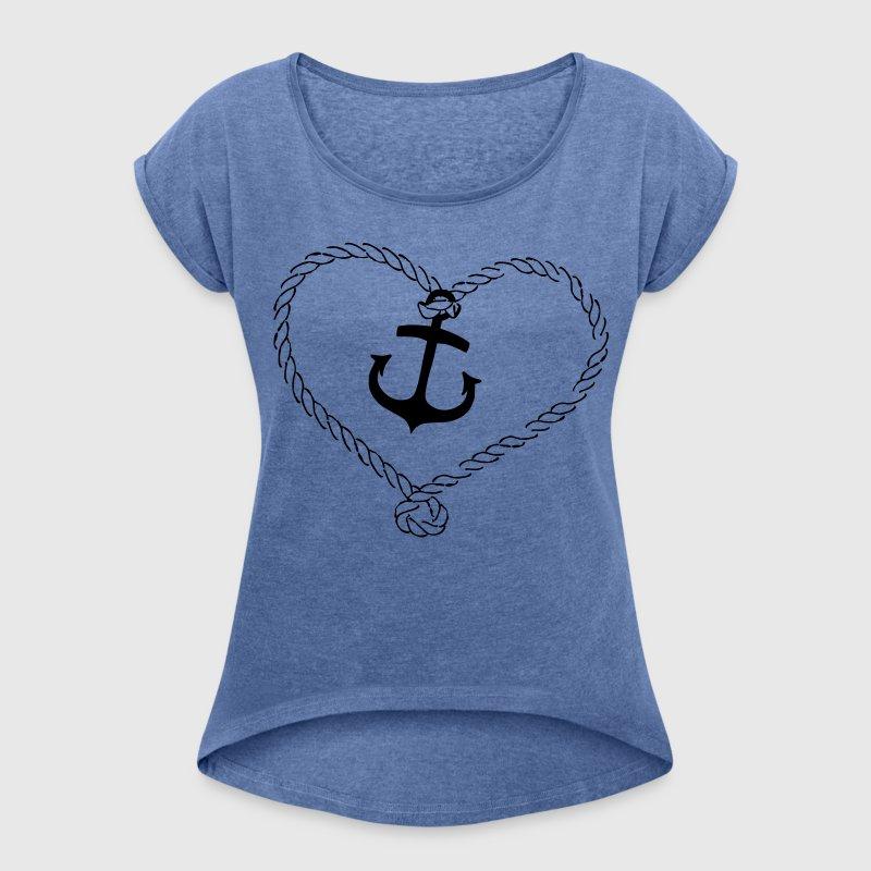 anker shirt mit herz aus seil t shirt spreadshirt. Black Bedroom Furniture Sets. Home Design Ideas
