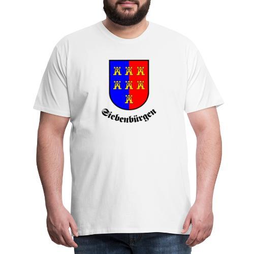 Tasse Siebenbürgen mit Sachsenwappen - Männer Premium T-Shirt