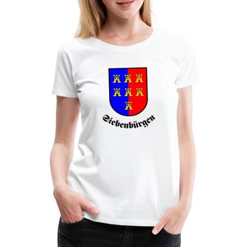 Tasse Siebenbürgen mit Sachsenwappen - Frauen Premium T-Shirt