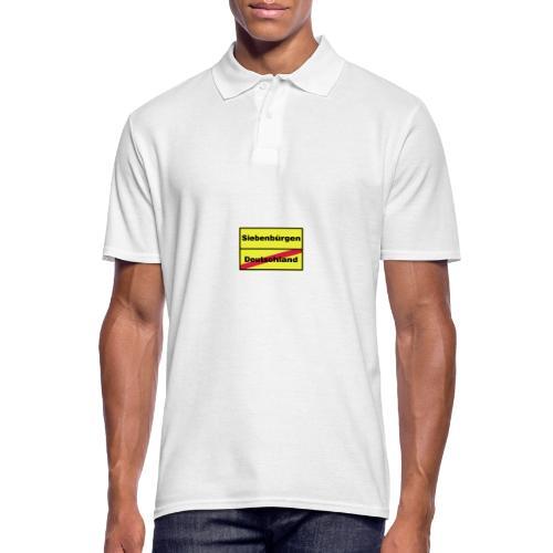 Kaffeepott Ortsschild Siebenbürgen - Männer Poloshirt