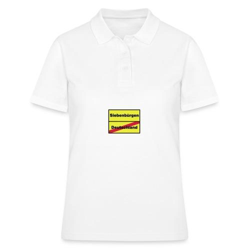 Kaffeepott Ortsschild Siebenbürgen - Frauen Polo Shirt