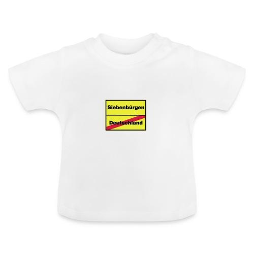 Kaffeepott Ortsschild Siebenbürgen - Baby T-Shirt