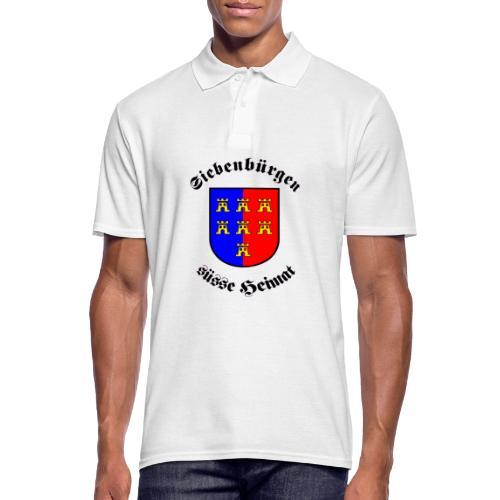 Tasse Siebenbürgen süße Heimat mit Sachsenwappen - Männer Poloshirt