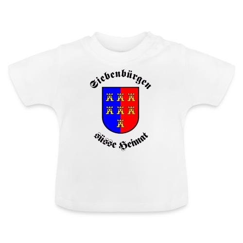 Tasse Siebenbürgen süße Heimat mit Sachsenwappen - Baby T-Shirt