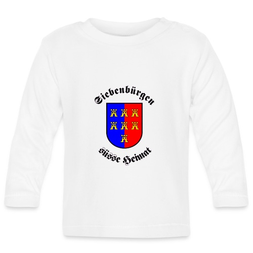 Tasse Siebenbürgen süße Heimat mit Sachsenwappen - Baby Langarmshirt