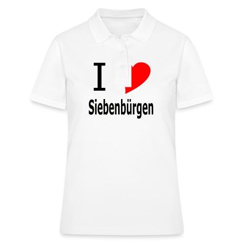 Tasse I love Siebenbürgen - Frauen Polo Shirt