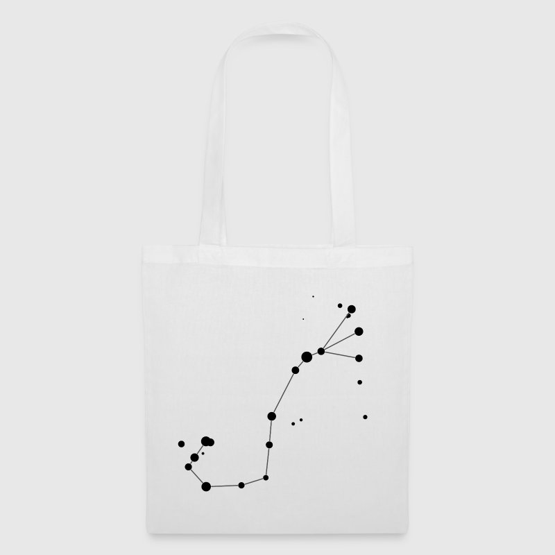 White Scorpius (Scorpio) Constellation Bags  - Tote Bag