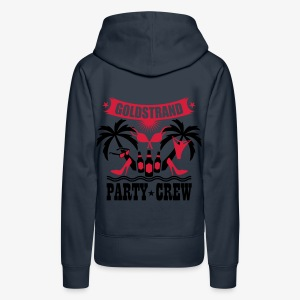 17 Goldstrand Party Crew Insel Palmen Sex Fun T-Shirt - Frauen Premium Hoodie