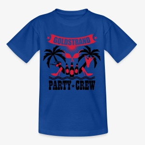 17 Goldstrand Party Crew Insel Palmen Sex Fun T-Shirt - Kinder T-Shirt