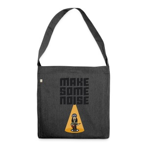 MAKE SOME NOISE - Schultertasche aus Recycling-Material