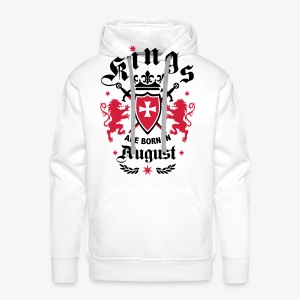 Kings are born August Lions Cross King 01 T-Shirt - Männer Premium Hoodie
