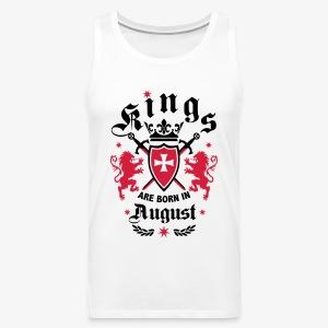 Kings are born August Lions Cross King 01 T-Shirt - Männer Premium Tank Top
