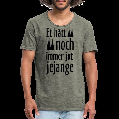 Et hätt noch immer jot jejange (Weiß) Kölner Spruch - Kölsche Sprüche - Männer Vintage T-Shirt