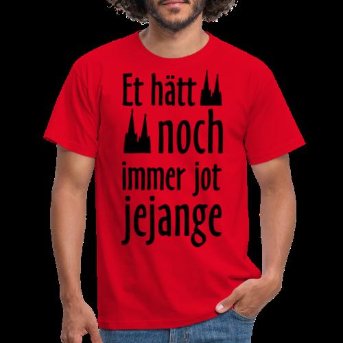 Et hätt noch immer jot jejange (Weiß) Kölner Spruch - Kölsche Sprüche - Männer T-Shirt