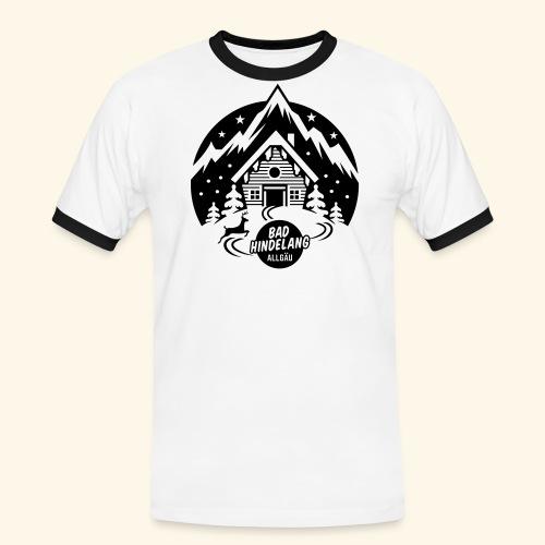 Bad Hindelang, Allgäu - Männer Kontrast-T-Shirt