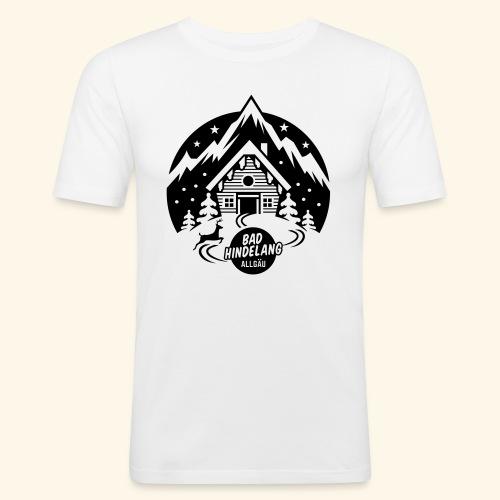 Bad Hindelang, Allgäu - Männer Slim Fit T-Shirt