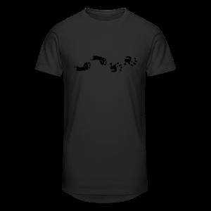 Baby Hand- und Fussabdruck Shirt - Männer Urban Longshirt