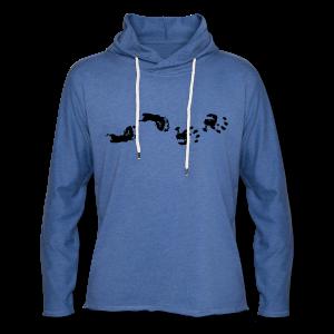 Baby Hand- und Fussabdruck Shirt - Leichtes Kapuzensweatshirt Unisex